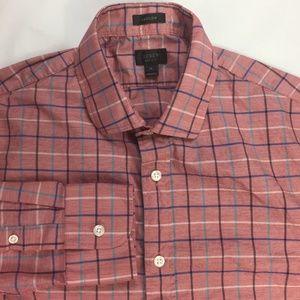J Crew Ludlow Men's Medium Button Shirt Tattersall
